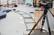 Wide Shot of Dolly and Track Set Up
