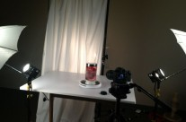 Lighting Set Up for Heart in a Jar Shoot – View 3