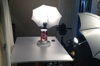 Lighting Set Up for Heart in a Jar Shoot – View 1