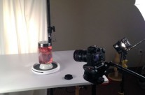 Lighting Set Up for Heart in a Jar Shoot – Detail